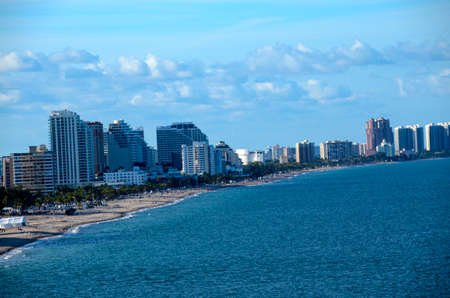 ft lauderdale: Cityscape of Ft  Lauderdale Florida and the beach Stock Photo