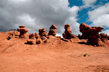 Strange rock formatations at Goblin Valley State Park, Utah photo