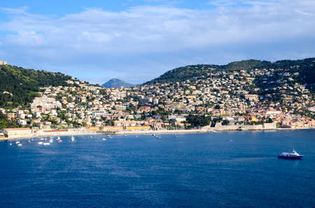 The beautiful town and harbor of Villefranche France