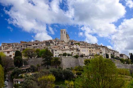 The medieval city of Saint Paul De Vence in France  Imagens