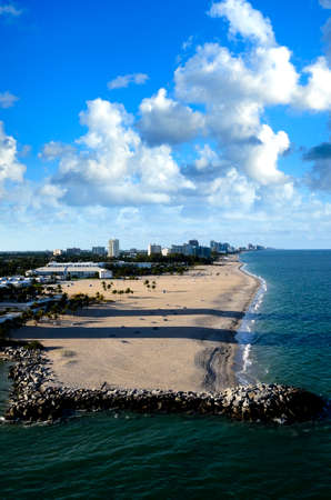 Beach and cityscape of Fort Lauderdale, Florida photo