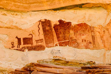 barrier: Temple Mountain Barrier Style Pictograph Panel