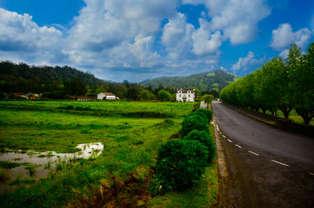 Typical view of the country side on Sao Miguel Island, Azores.