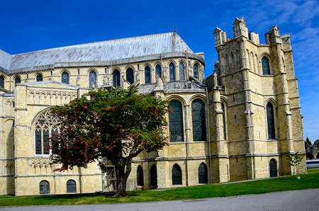 canterbury: Canterbury Cathedral on a sunny day in Canterbury England Stock Photo