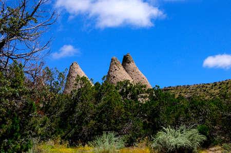 kasha: Strange tent rock formations at Kasha-Katuwe Tent Rocks National Monument New Mexico. Stock Photo