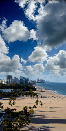 The beach at Ft. Lauderdale, Florida Stock Photo