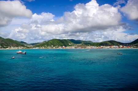 The beautiful island of St. Martin in the Caribbean.