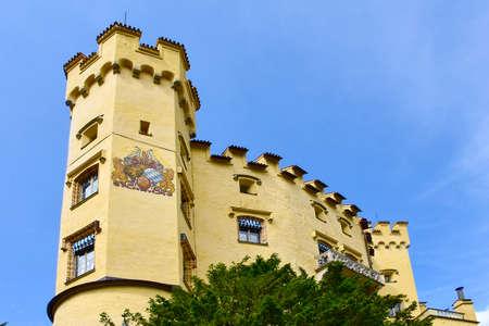 schwangau: Castle Hohenschwangau in the town of Schwangau Germany. Editorial