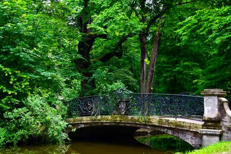Bridge at Nymphenburg Palace near Munich Germany.