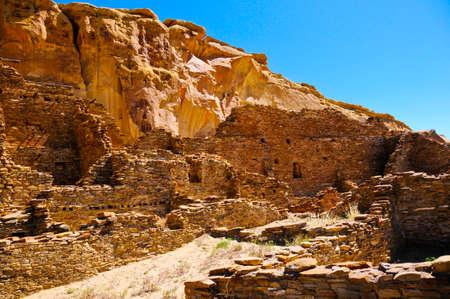 Ruins of Pueblo Bonito at Chaco Culture National Historical Park.