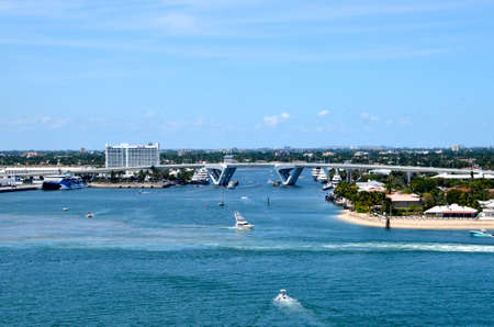 17th: Port Everglades with the 17th st. Bascule Bridge in the background.
