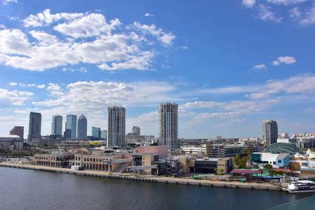 Skyline of Tampa Florida. Editorial