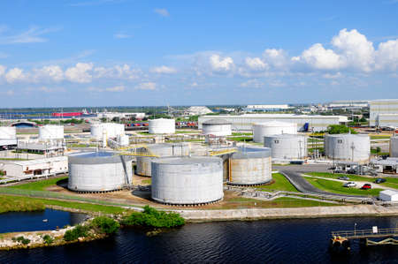 The industrial side of the Port of Tampa