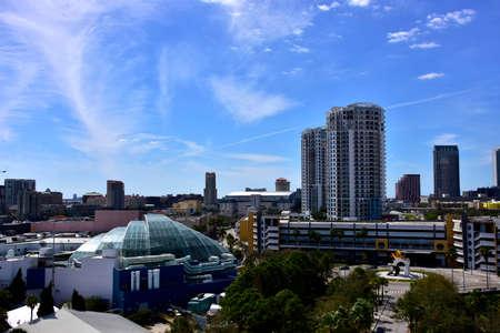 Skyline of Tampa Florida. Stock Photo