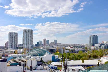 Skyline of Tampa Florida Stock Photo