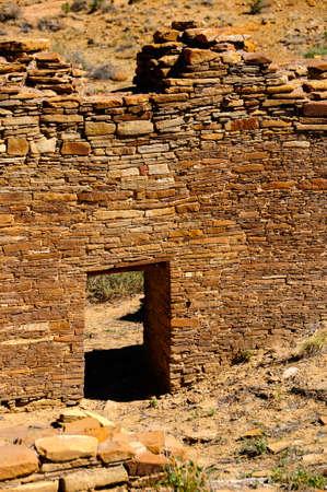 Great house,  Chetro Ketl, at Chaco Canyon. Stock Photo