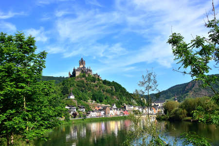 Castle Reichsburg above the German town of Cochem and the Mozel River.