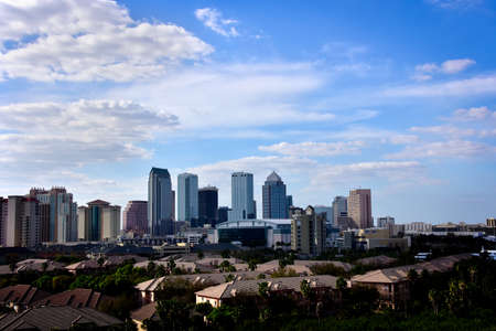 Skyline of Tampa, Florida. Stock Photo