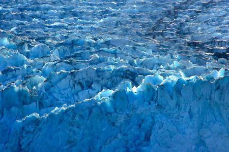 Close up of ice on Sawyer Glacier, in the Tracy Arm Fjord