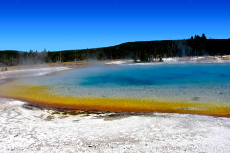 Rainbow Pool in Black Sand Basin, Yellowstone National Park.