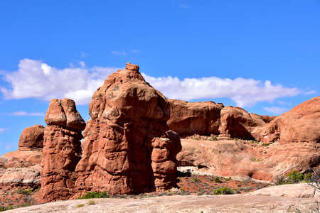 Red Rock formation at Arches National Park, Utah.