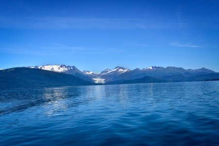 Eagle Glacier from a boat, near Juneau, Alaska.