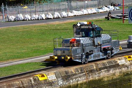 The Mule is used to pull ships through the locks at the Panama Canal.