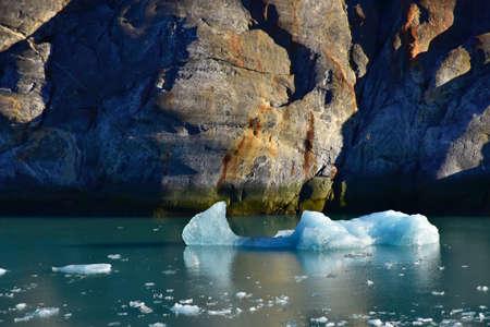 Iceberg floating in the Tracy Arm Fjord, Alaska. Imagens