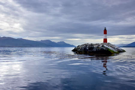 les Eclaireurs Lighthouse, in the Beagle Channel, near Ushuaia, Argentina Imagens