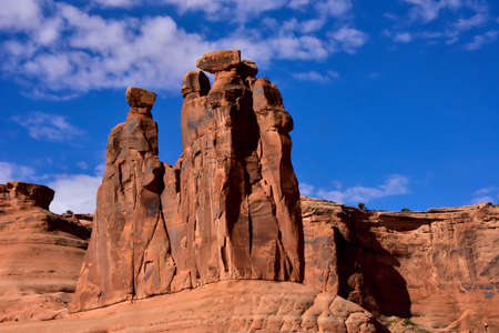 Red Rock formations in arches National Park, Utah Imagens
