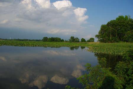 Hidden lake.