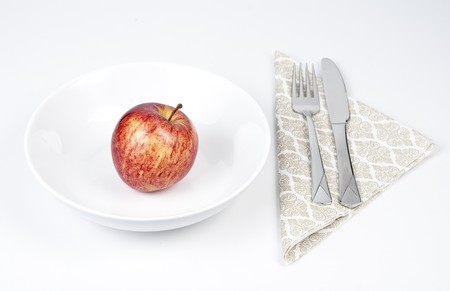 Apple diet. Stock Photo