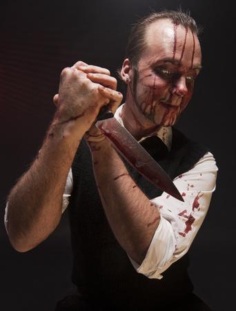 A killer enjoying his work.