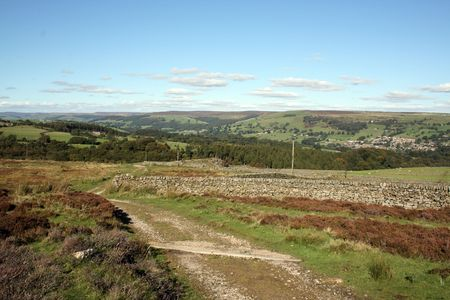 A landscape shot of the yorshire moorland