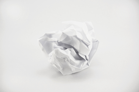crumpled paper ball: crumpled paper isolate on white background Stock Photo