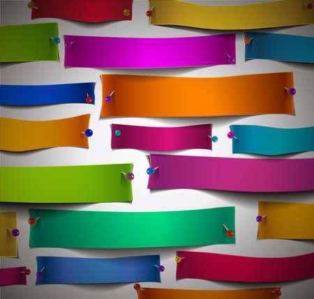 ecartel�: Paper Cuts color�s avec des �pingles, pas de masque d'�cr�tage utilis�e, facile � modifier. Travaux lorsque les documents sont sur un fond color�