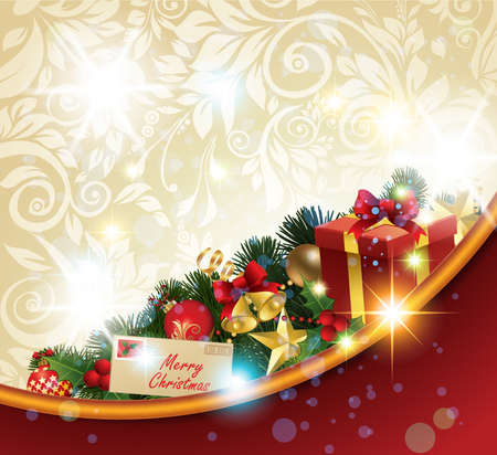 postcard design: Christmas Background.