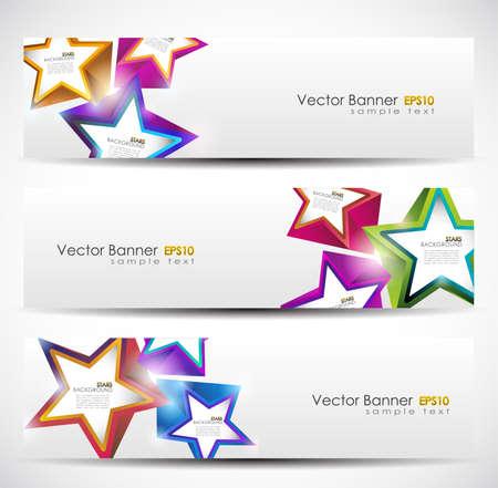 Stars Banner Set. 160x600. Vector Illustration. Illustration