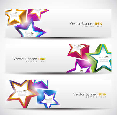 stars: Stars Banner Set. 160x600. Vector Illustration. Illustration