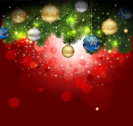 details: Magic Christmas Background. Illustration