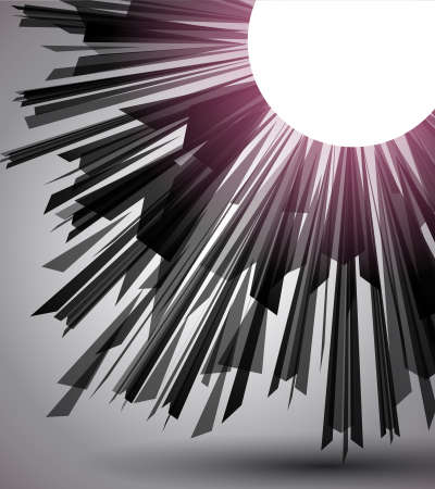 light burst: Black Geometric background with space for text.
