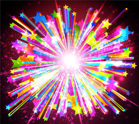 sunburst: Abstract starburst. Vector Illustration EPS10.  Illustration