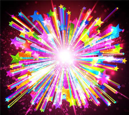 confetti: Abstract starburst. Vector Illustration EPS10.  Illustration