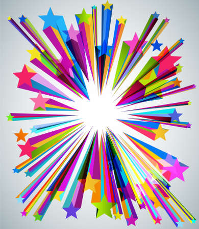 Stars Background Cover Design Vector