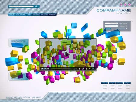 Technology website template. 1600x1200. Vector Illustration. EPS10 Stock Vector - 10270803