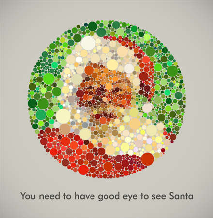 Lack of belief in Santa is equal with color blindness Vector