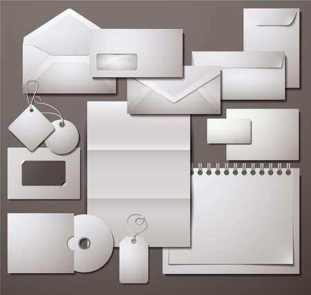 papeleria: Seleccionado plantillas corporativas. Ilustraci�n vectorial.