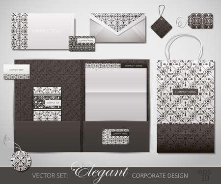 stationery set: Elegant Corporate Design. Vector Illustration.