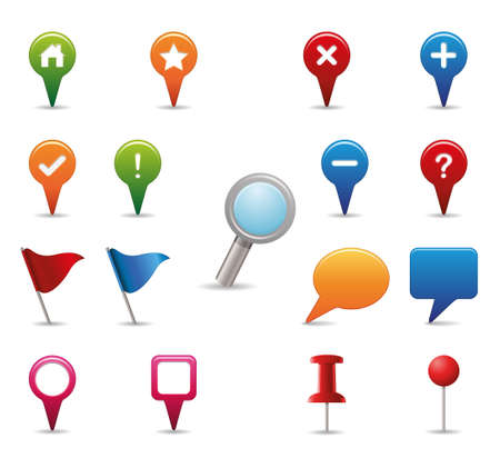 GPS Icon set.  Vector
