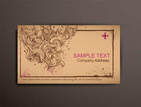 briefpapier: Business  Calling  Visiting Spanplatten Card.Abstract